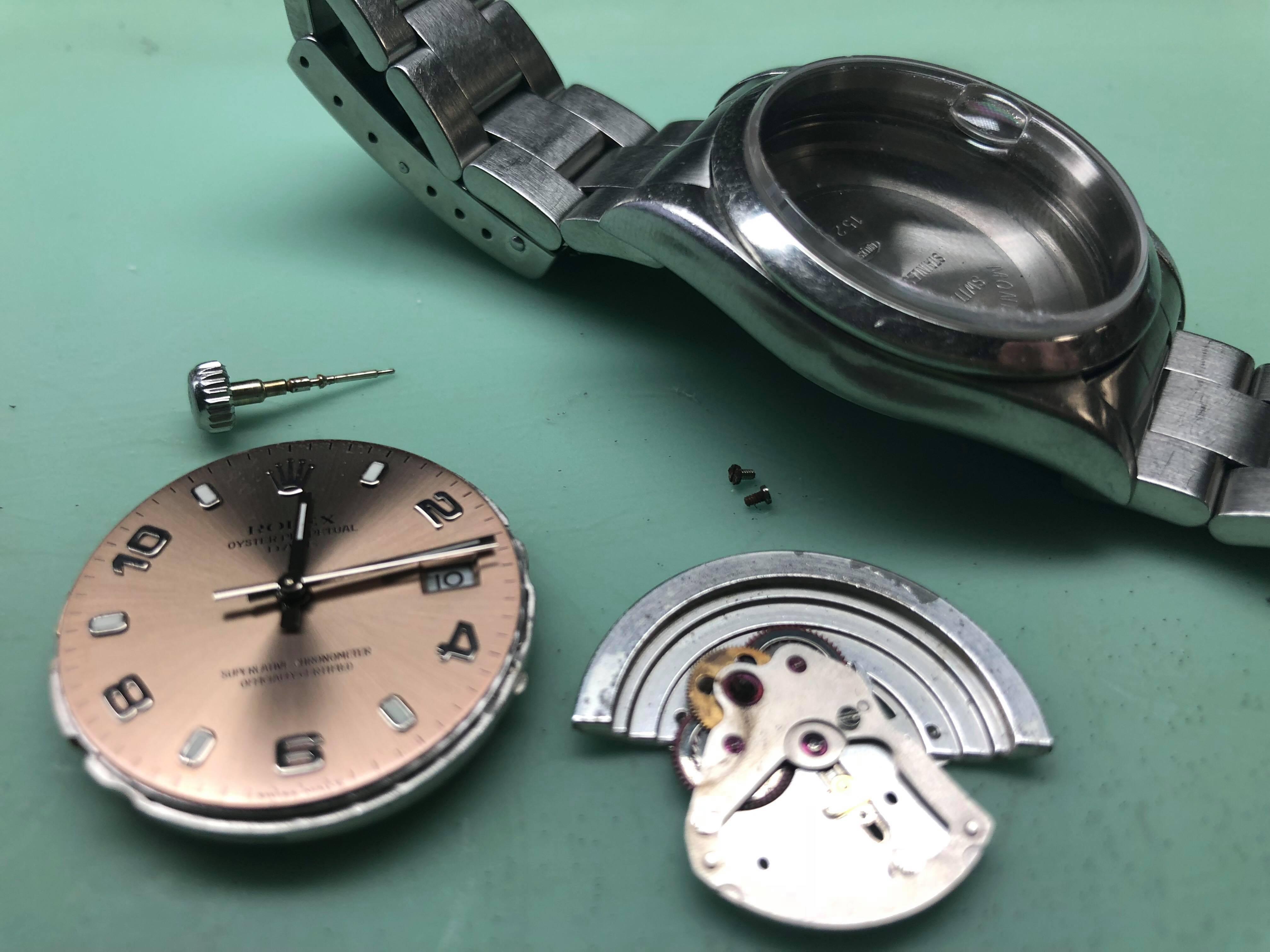 Ολοκληρωμένη επισκευή σε οξειδωμένο ρολόι Rolex 00d17c2edc2